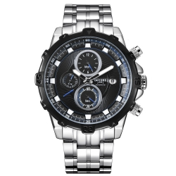 Mens high quality luxury stainless steel mechanical automatic wrist watch