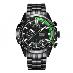 Chronograph skeleton waterproof brand automatic mechanical luminous watch