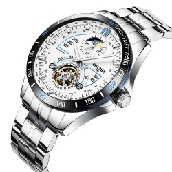 Fashion Tourbillion Moon Phase Automatic Men Watches tourbillon watch