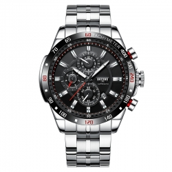 New Design Hollow Black Band Skeleton Mechanical Water Resistant watch