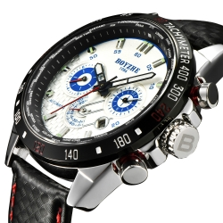 Luxury Brand Skeleton Automatic Mechanical Leather Waterproof Men Watch