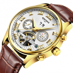 Luxury classic luminous auto date automatic mechanical watch for men