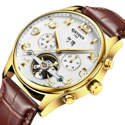 Popular Automatic Mechanical Men luxury watch skeleton tourbillon mechanical watch for men