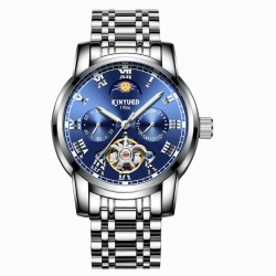 Luminous Mechanical Men Business Fashion Stainless Steel Case Back Water Proof Watch