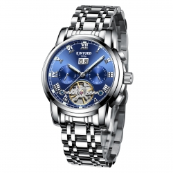 Fashion water proof dropshipping custom logo Tourbillon movement mechanical watches