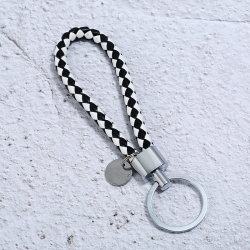 Creative hand-woven leather rope key chain hanging Bailuo high-end male and female couple car key ring chain pendant