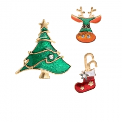 Christmas tree brooch set
