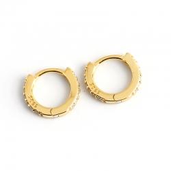 S925 sterling silver earrings round micro-set zircon personality trend earrings earrings
