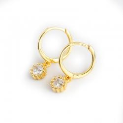 Gold zircon s925 sterling silver earrings earrings ear ring