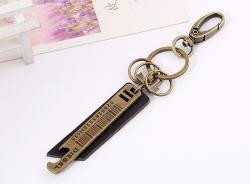 Vintage cowhide keychain