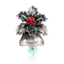 Creative christmas gift bell brooch