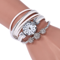 New style old fastion luxury three big rhinestone decoration female quartz wathces