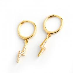 S925 Sterling Silver Diamond Lightning Personalized Wild Earrings Earrings