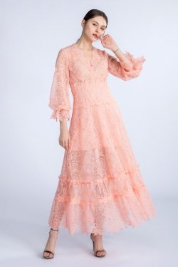 Gossamer lace a-shaped dress