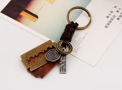 Blade leather keychain