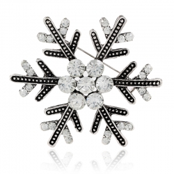 Big snowflake crystal brooch Christmas exquisite flower corsage