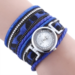 New design luxury suede pattern rhinestone female watches
