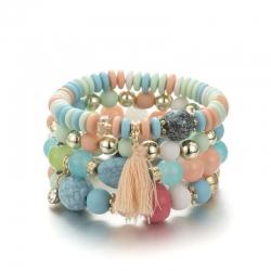Internet explosion models bracelet tassel acrylic glass beads bracelet jewelry wholesale dropshipping