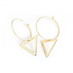 Golden triangle s925 sterling silver earrings ear drop earrings