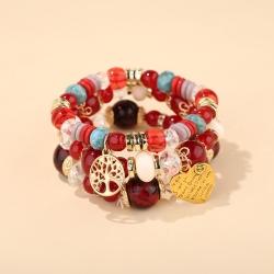 New bohemian multi-piece heart-shaped pendant jewelry small and fresh fashion bracelet