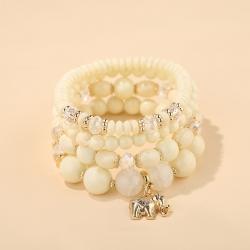AliExpress Hot-selling Jewelry Fashion Elephant Pendant Crystal Bracelet Retro Ethnic Jewelry Factory Outlet