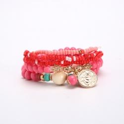 European and American fashion bracelets Bohemian multi-layer coin pendant bracelets wholesale manufacturers