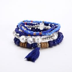 AliExpress Hot Selling Multilayer Elastic Bracelet European and American Ethnic Style Small Fresh Fashion Ladies Bracelet