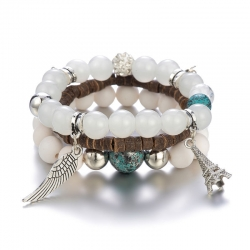 Manufacturers selling Korean new style bracelets in foreign trade, bead bracelets, multi-layer beaded bracelets, hot-selling multi-layer bracelets in Europe and America