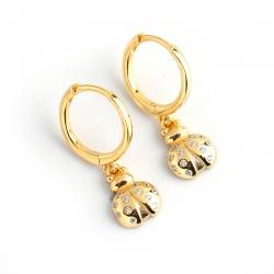 Golden diamond insect firefly s925 sterling silver earrings earrings earrings