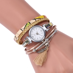 Creative old fashion long band high quality quartz female watches