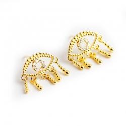 Golden Devils Eye s925 sterling silver earrings earrings light luxury exaggerated eyes earrings female