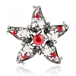 Creative Christmas gift five-star brooch