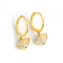 Light luxury style full diamond gold bird s925 sterling silver earrings earrings earrings female