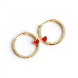 European and American gold earrings love light luxury circle S925 sterling silver earrings earrings earrings female