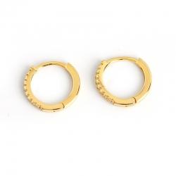 Earrings S925 sterling silver round micro-set zircon personalized trend earrings earrings jewelry