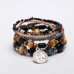 European and American new personality bracelets simple bracelet bracelets fashion bohemian multi-layer stretch jewelry wholesale