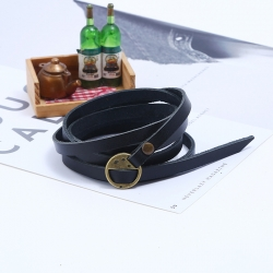Five-circle embossed leather bracelet cross-border explosion retro mens leather bracelet bracelet