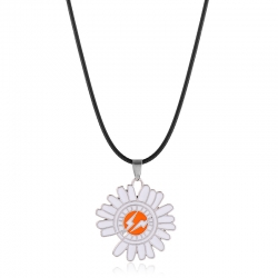 Red Lightning Daisy Necklace Simple Wild Sunflower Student Necklace Accessories
