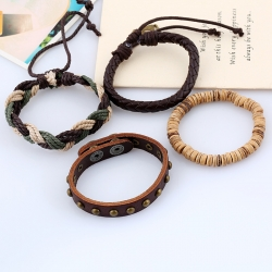 Retro woven suit leather bracelet DIY bracelet