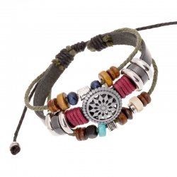 Retro personality leather bracelet fashion temperament wild beaded leather bracelet new bracelet