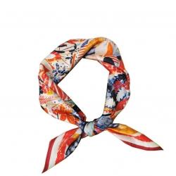Mulberry silk print square scarf