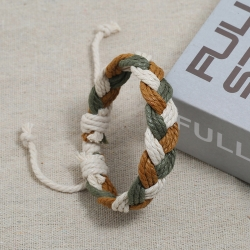 Color hemp rope couple bracelet ethnic style hand-woven bracelet simple