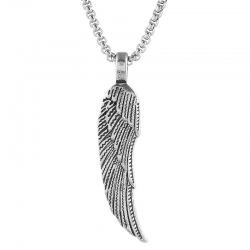 Hip-hop personality tide brand mens feather necklace