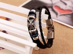 Handmade vintage cowhide bracelet