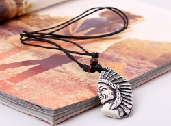 Vintage trinket Indian avatar necklace minority