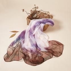 Long print chiffon shawl scarf