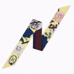Long print silk smooth look charmeuse print head tape belt sashes