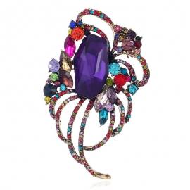 European and American fashion clothing creative line high-end brooch goddess full diamond hollow brooch