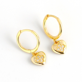 Four-leaf clover diamond love gold s925 sterling silver earrings earrings female