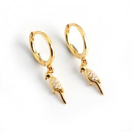 European and American woodpecker diamond s925 sterling silver earrings simple earrings
